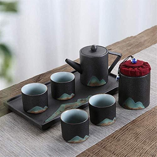 Teteras / Café Conjunto de té de té de porcelana de cerámica Tetera con mango y taza de té Conjunto de té de la tarde Juego de té de la tarde Regalo para el hogar y decoración del hogar para el hogar