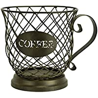 Boston Warehouse 33458 Coffee Mug Kup Keeper, Storage Basket