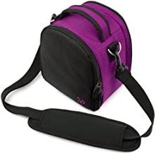 VanGoddy Laurel Carrying Bag for Canon PowerShot SX530 HS, G3 X, SX60 HS, SX50 HS, SX40 HS, SX30 is, SX1 is, SX10 is SLR Like Digital Cameras and Mini Tripod and Screen Protector (Purple)