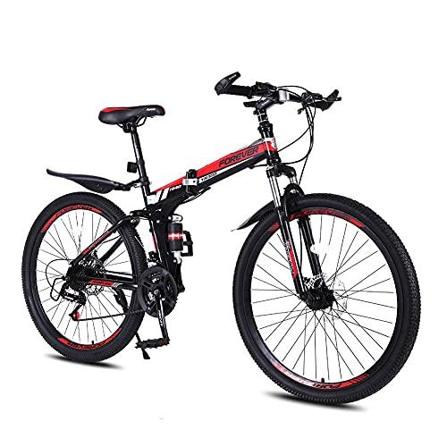 Bicicleta Plegable Para Adultos, Bicicleta De Montaña De 26 Pulgadas, Velocidad Variable, Plegable, Bicicletas De Carretera, Portátil, Duradera, Bicicleta De Ciudad