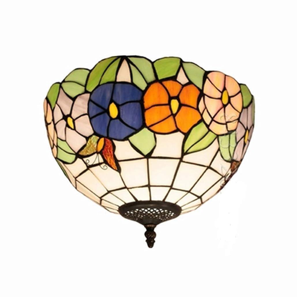 強化砂利均等に天井ランプステンドグラス、手作りの12インチ人気スタイルガラス天井ランプ用ホームインテリアフラワーデザイン柄