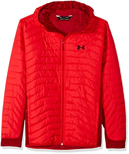 Under Armour Outerwear Men's Cold Gear Reactor Hybrid Jacket, Red/Black, Large