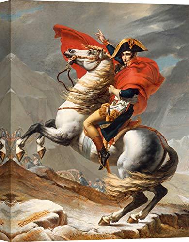 Art Print Cafe – Stampa su Tela - Quadro – Jacques-Louis David, Napoleone Che attraversa Le Alpi – 70x50 cm