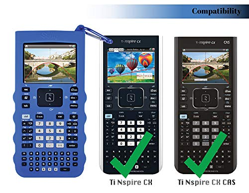 Sully Silicone Skin for Ti Nspire CX/CX CAS Handheld (Blue) w/Screen Protector - Silicon Cover Case for Ti-Nspire CX Hand held Graphing Calculator - Protective & Anti-Scretch Skins & Screen Covers Photo #8