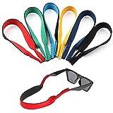 Surplex Paquete de 6 Gafas de neopreno con cordón elástico Correa de retención para gafas deportivas y gafas de sol, Porta gafas Gafas para la cabeza Banda para la cabeza Flotador antideslizante Cuerd