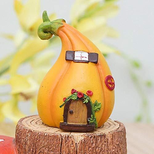 1pc Mini Casa De La Calabaza, Miniaturas Crafts Hada Figurines Mini Casa Decoración del Jardín Micro Paisaje Resina