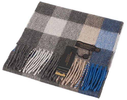 I Luv Ltd Unisex Scottish Cashmere Scarf In Cubes Shadow Tartan Design 26cm Wide