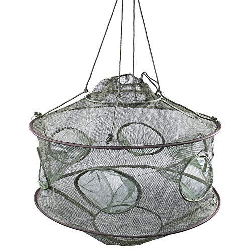 YONGZHI Crab Trap,Minnow Traps,Shrimp Trap,Fishing Bait Traps,Crayfish Trap,Portable Folded Fish Net