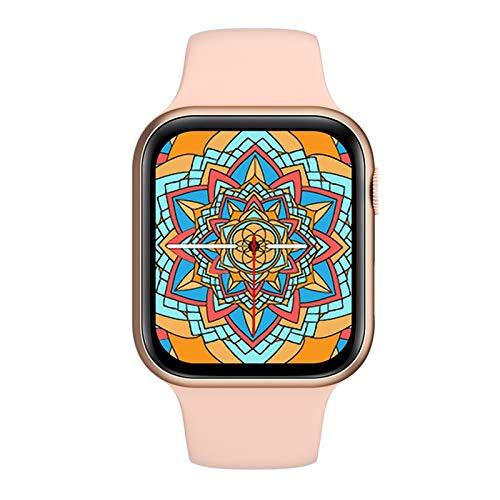 GYY Smart Watch Iwo 13 Series 6 1.75 Pulgadas de Pantalla ECG Bluetooth Llamada SmartWatch Hombres Mujeres Mejor Que IWO 8 12 Pro 13 K8 (Color : P6 Gold)