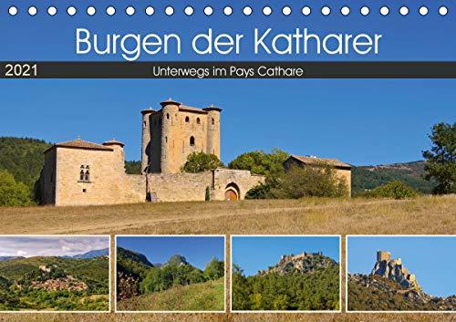 Burgen der Katharer - Unterwegs im Pays Cathare (Tischkalender 2021 DIN A5 quer)