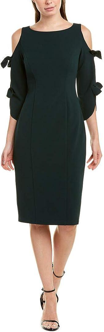 Donna Morgan Women's Stretch Crepe Tie Sleeve Midi Dress