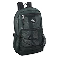 SEE THROUGH BACKPACK: Rugged & durable, with outer bungee cord for holding important items like books or carabiner (belay) clips, school and work ID badges, or keychains to showcase your unique style BACKPACK WITH WATER BOTTLE HOLDER: 2, actually! Qu...