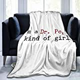 LIAM HENDERSON Dr Pepper Throw Blanket Suitable Ultra Soft Weighted Bedding Fleece Blanket for Sofa Bed Office 50'x40' Travel Multi-Size for Adult
