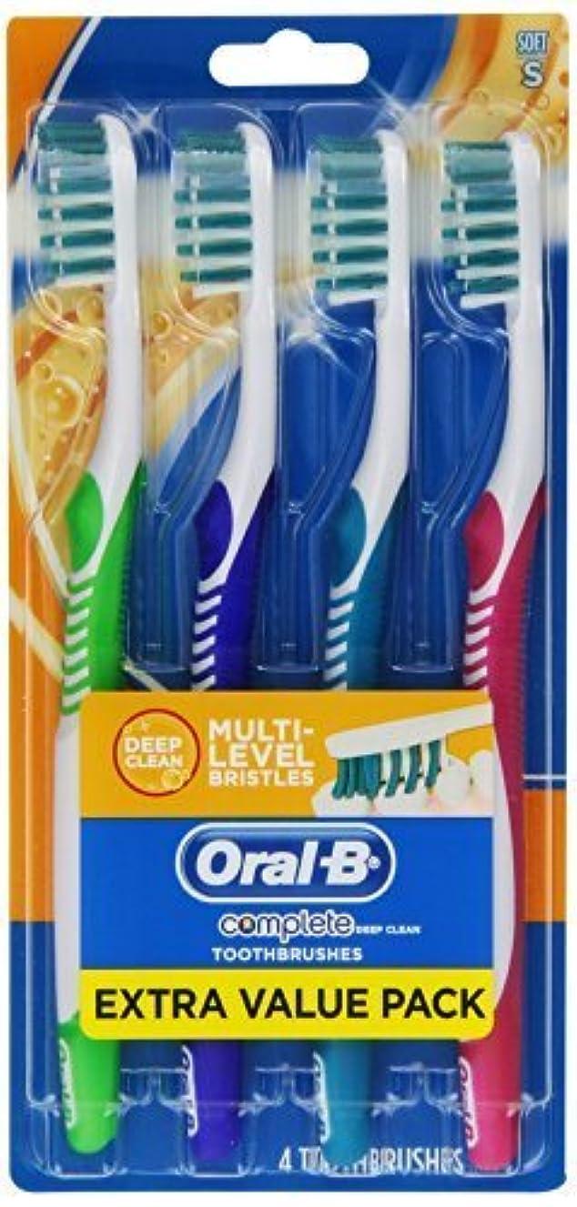 役員どっちひねくれたOral-B Complete Deep Clean Soft Bristles Toothbrush 4 Count by Oral-B [並行輸入品]