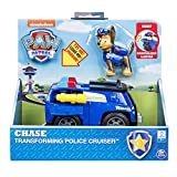 PAW PATROL-Chase's with Flip-Open Megaphone, for Ages 3 and Up Chase's Transforming Police Cruiser con megáfono abatible, para Edades de 3 y más, Multicolor (Spin Master 20101360)