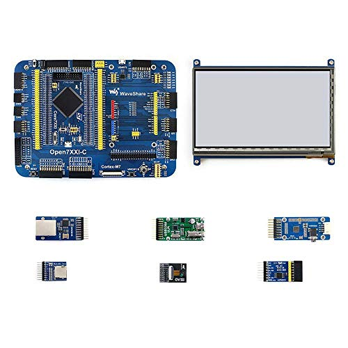 Waveshare STM32F746IGT6 Core746I Cortex-M7 Arm STM32 - Tabla de Desarrollo (Incluye 7 Módulos Open746I-C)
