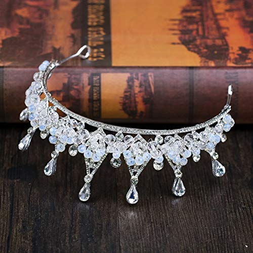 Lurrose 1 st Barok Kroon Vintage Bruidsjurk Accessoires Haar Hoop Headdress Haar Band voor Verjaardag Bruiloft