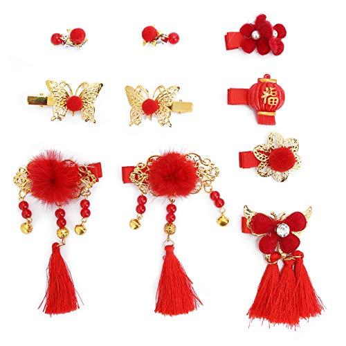 Einfach am Haar zu befestigen, Haarspangen im chinesischen Stil mit bunten Mustern für Kleidungsstücke für Haarfarbe und Frisur