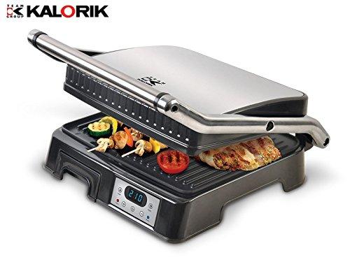 XL contactgrill/multigrill voor vlees, panini, sandwiches, elektrische grill met anti-aanbaklaag