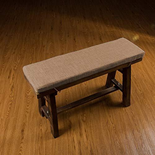jHuanic langes Sitzkissen für Gartenbank, weiches Sofa-Matte, für den Innenbereich, mit Bindebändern, für Büro, Schaukel, Terrassenstuhl, Reisen, 2 oder 3 Sitzer (Kaffee, 80 x 40 x 4 cm)
