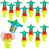 ArtCreativity Light Up Spinning Tops for Kids, Set of 12, Flashing LED Spinner Toys in Multiple Colors, Fun Light Up Party Favors for Boys and Girls, Goodie Bag Fillers and Kids' Stocking Stuffers