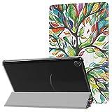 MoKo Custodia compatibile con Kindle Fire 7 Tablet (9th Generation - 2019 Release) in Pelle con Avvio/Arresto Automatico, Supporto Magnetico 3 Sezioni Anti Urti Tablet Cover - Fortunato Albero