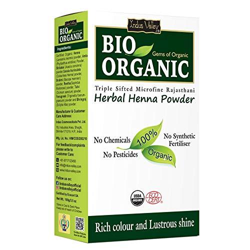 Indus Valley Bio Organic 100% Natural Herbal Henna Powder