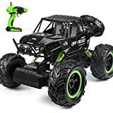 Rc Truck 1:12 Large Remote Control Car Four-Wheel Drive Climbing Truck High-Speed Racing Cars 4wd Off Road Monster Trucks 2.4ghz Rock Crawler for Boys (Green)
