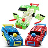 CHUCHIK Pull Back Cars Pack of 3 – Birthday Toy Car Set, Race Car Toys for Boys / Girls Age 3,4,5,6,7 – Smash Crash Race Car Toys – Optional to Stay Intact or Break Apart Upon Impact