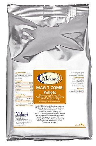 Makana MAG-T Combi pellets (med magnesium, lysin, tryptofan, vitamin E och vitamin B12), 1000 g påsar (1 x 1 kg)