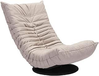 Zuo Modern Down Low Swivel Chair, Twin, Beige, Single,