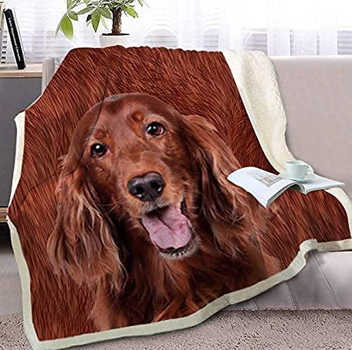 Manta de sherpa marrón en la cama manta para colchas de adultos, ropa de cama con impresión 3D, franela de tela de microfibra, manta ligera y cálida sofá de 80 x 60 pulgadas