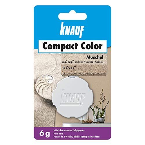 Knauf Compact Colors Farb-Pigmente – Pigment-Pulver zum Einfärben von Putz, nicht staubend, hoch konzentriert und wischfest, Muschel, 6-g