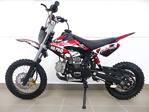 RV-Parts KXD Dirt Bike 125ccm 17/14 Zoll Cross Vollcross Pocketbike Pit Enduro 125cc 12PS