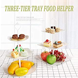 2 Pcs 3 Tier Fruit Plate Cake Stand Fruit Tray for Party Restaurant Wedding Birthday Western Style Fashionable