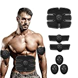 Reazeal Abs Stimulating Belt- Abdominal Toner-Training Device for Muscles- Wireless Portable to-Go Gym Device- Muscle Sculpting at Home- Fitness Equipment for at-Home Workouts