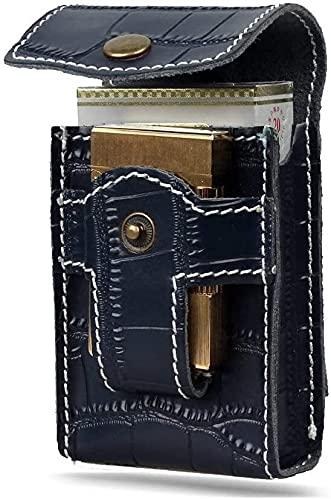 GJJSZ Bolso de la Cintura Estuche de Cigarrillos de Cigarrillo de Cuero Paquete de Cintura portátil Bolsillo de Bolsillo Kit de Herramientas (Color : COLOR2)