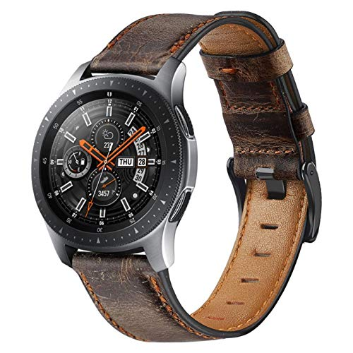 TKPOLD 22mm Watch Band para Samsung Galaxy Watch 3 45 / 46mm para Amazfit GTR 47mm / para Gear S3 Frontier Leather Correa para Huawei Watch GT 2 / 2e Strap