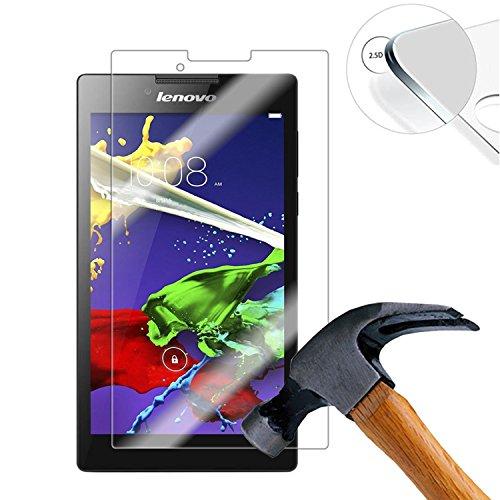 Lusee 2 Stück Schutzfolie für Lenovo Tab 2 A7-30 7.0 Tablet [9H Festigkeit] Bildschirmschutzfolie HD Schutzfolie [Anti Kratzer] [Anti Fingerabdruck] 2.5D Panzerfolie