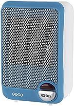 Sogo CAL-SS-18295-B Mini calefactor ventilador con motor DC, 600 W, Azul y blanco
