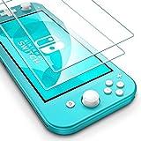 flysee vetro temperato per nintendo switch lite, [2 pezzi] pellicola protettiva per nintendo switch lite, facile da installare, senza bolle, anti-graffio, 9h durezza