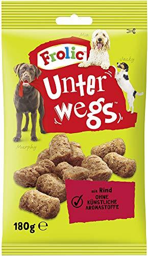 Frolic Hundesnacks Hundeleckerli Unterwegs mit Rind, 11 Packungen (11 x 180 g)