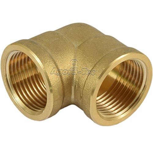 Agora-Tec Messing Winkel 90 Grad (2x 1 Zoll IG) (2x 30,3mm) Industriequaltät