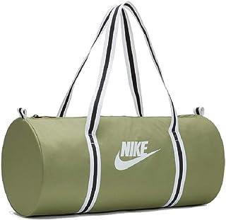 60L Hombre Duffel Grip Drum Nike Nk Brsla M Duff-9.0 AOP Negro//Blanco