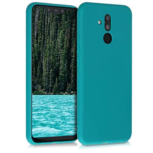 kwmobile Custodia Compatibile con Huawei Mate 20 Lite - Cover in Silicone TPU - Back Case per Smartphone - Protezione Gommata Petrolio Matt