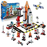 HAKUNAMATATA Space Toys, 13 in 1 STEM Space Shuttle Toys DIY Kids Space Toy Building Block Set Spaceship Toy Educational Learning Kits Birthday Gifts for Boys & Girls 6 7 8-14 (566 pcs)