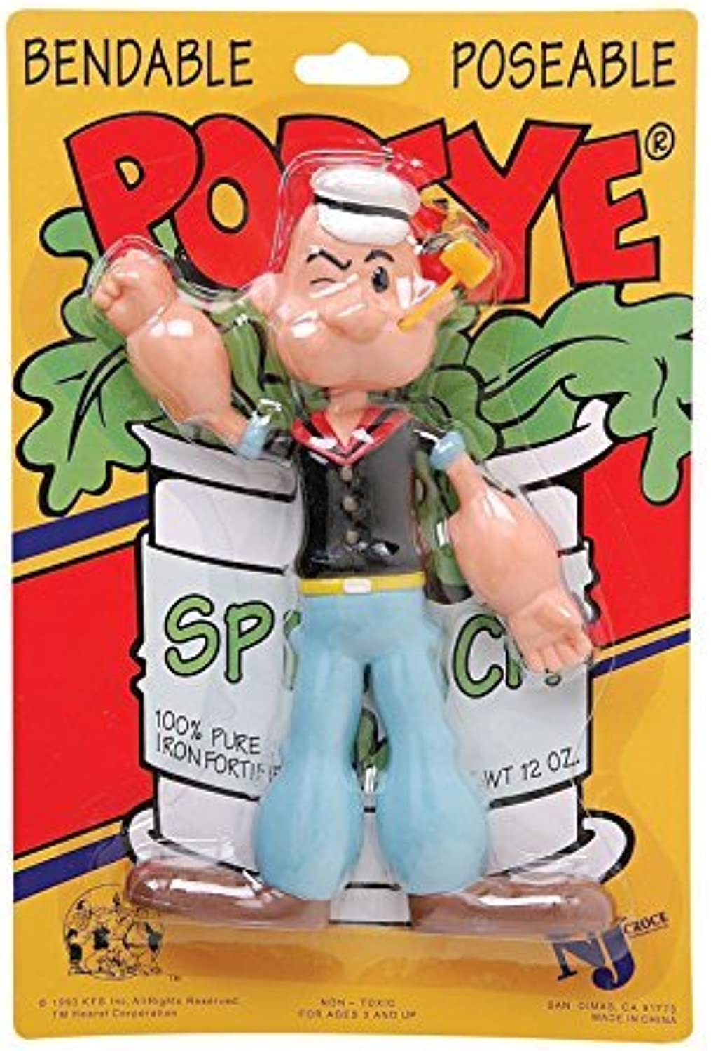 Popeye The Sailor Man, Bendable Poseable Figure by KFS Inc.