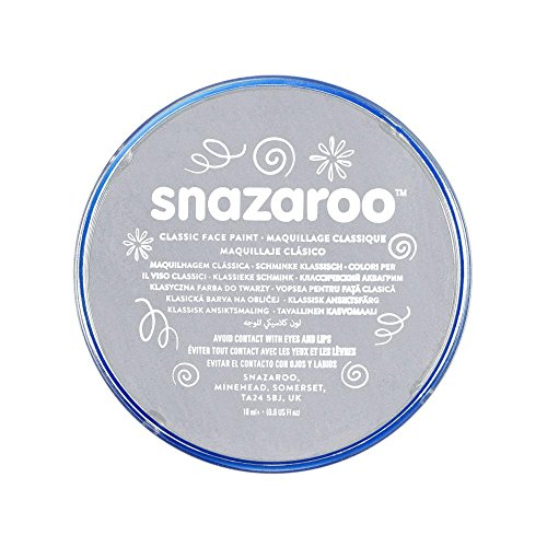 Snazaroo, Light Grey 1118122 Classic Face Paint, 18ml, Medium