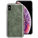 EasyAcc Hülle für iPhone XS Max, Echtes Leder Case Stoßfester und Rutschfester TPU Softrahmen...