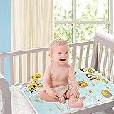 2 Stück Wasserdicht Wickelunterlage für Babys und Kleinkinder - Atmungsaktiv, Waschbar, Wiederverwendbare Urin Matte Abdeckung (Hellblau, XL - 80 x 110 cm)